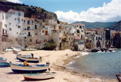 Plage Cefalu Sicilie
