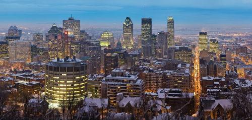 Vue sur les gratte-ciel de Montréal