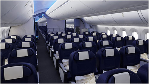 J ai test pour vous un vol bord du dreamliner cap 5 for L interieur d un avion
